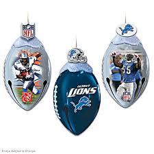 nfl detroit lions footbells ornament collection
