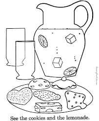 cookie coloring pages print kids coloring