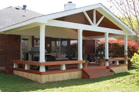 Backyard Decks And Patios Ideas Decorating Outdoor Exquisite With Umbrella Standing Alone At