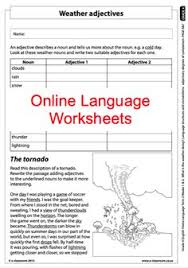 grade 7 online english language worksheets nouns and adjectives