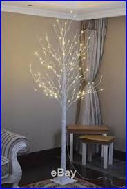 lighted birch tree 8ft artificial birch tree pre lighted pre lit tree warm white 128