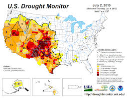 Southwest States Map by July 2013 Drought And Impact Summary