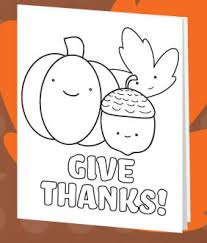 printable thanksgiving cards color printable coloring pages