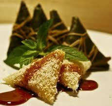 resep lopis kue lupis ketan putih khas betawi