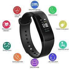 blood pressure wrist bracelet images Fitness tracker waterproof ip67 color display screen activity jpg