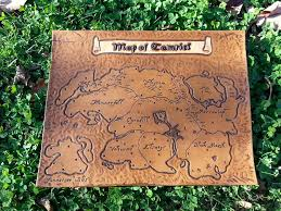 leather map leather scout map of tamriel by leather by alex on deviantart