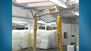 spanco freestanding workstation jib crane food manufacturing