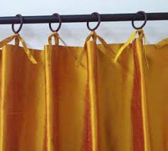Tie Top Curtains Tie Top Drapes Panels Offer Casual And Versatile Curtain Styling