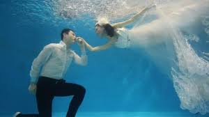 underwater wedding saying i do underwater weddings in china news