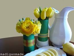 Creative Vase Ideas Paper And Ribbon Water Bottle Vase Recycling Ideas Crafts Ideas