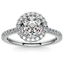 white gold halo engagement rings halo engagement ring in white gold