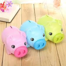cute cartoon pig shape coin storage money saving piggy bank