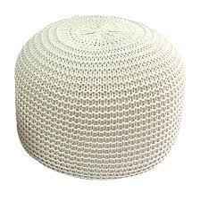 stevig round knitted pouf ottoman beige lazada singapore