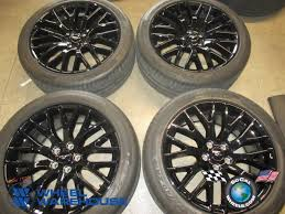 used ford mustang wheels 2016 ford mustang factory 19 black wheels tires oem rims track