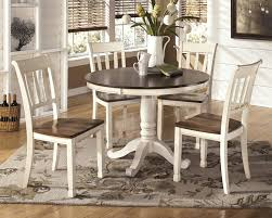 Ashley Dining Room by Whitesburg Round Dining Room Table U0026 4 Side Chairs D583 02 4