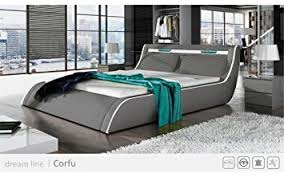 amazon com go corfy queen light grey modern platform bed with