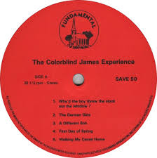 Girls Color Blind Vinyl Album The Colorblind James Experience The Colorblind