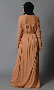 honey clothing multi pleats lycra abaya honey sand