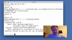 Clojure Map Instant Clojure Repl Startup Youtube