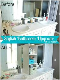 Bathroom Vanity Storage Organization Marvelous Stylish Bathroom Upgrade On A Budget One Artsy Of