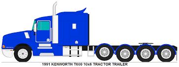 kenworth tractor trailer kenworth t600 10x6 tractor trailer by misterpsychopath3001 on deviantart