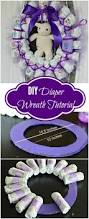 the best baby shower favors diaper wreath tutorial diaper