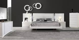white lacquer bedroom set with crocodile leather upholstered