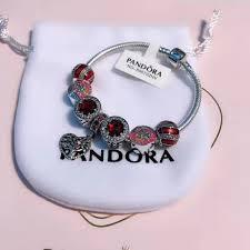 pandora bracelet murano glass images Pandora bracelet silver 925 charm bracelet snake chain with murano jpg