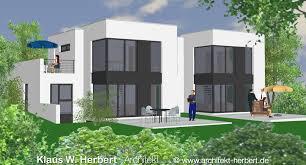 doppelhaus architektur klaus w herbert architekt aschaffenburg bauhaus und doppelhaus