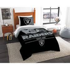 Vikings Comforter Oakland Raiders The Northwest Company Nfl Draft Twin Comforter Set