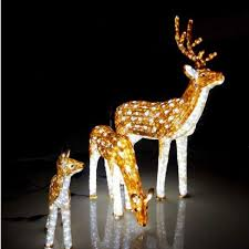 prissy ideas lighted deer outdoor decorations chritsmas decor