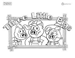 3 little pigs coloring pages to inspire in coloring page cool