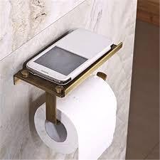 amazon com rozinsanitary wall mounted toilet paper holder antique