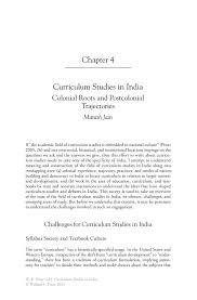curriculum studies in india springer