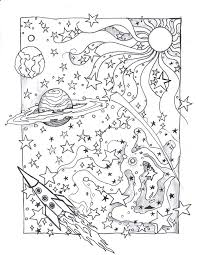 detailed space coloring pages christmas printable adults