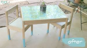 Ikea Kid Table by Paint Dipped Children U0027s Table Easy Ikea Hack Ikea Latt