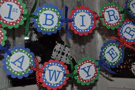 Personalized Party Decorations Birthday Banner Primary Colors Polkadots Personalized So
