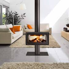Wood Stove Rugs Modern Pellet Stove The Middle Living Room Area With Gray Tile