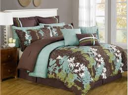 Girls King Size Bedding by King Size Spring Bedroom Decor Brown Turquoise Bedding Sets