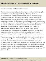 Sample Counselor Resume by Top 8 Hiv Counselor Resume Samples