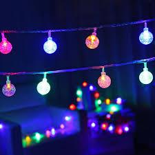 solar led christmas lights outdoor 6m solar led bubble ball string l christmas lights outdoor
