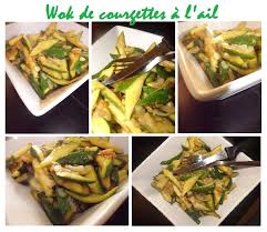 cuisiner l ail wok de courgettes à l ail aïe aïe lyna cuisine