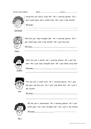 18 free esl physical appearance worksheets