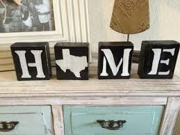Texas Decor For Home Home Wood Blocks Texas Home Decor Wood Letter Blocks Hand