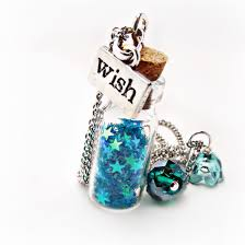 wish bottle necklace images Wishing star necklaces blue necklace star necklace glitter JPG