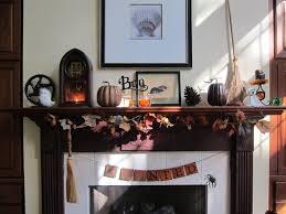 small black halloween mantle decorations mixed big round roman