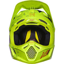 fox motocross helmets fox racing 2016 v3 cauz helmet yellow available at motocross giant