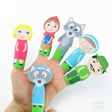 red riding hood finger puppets easy peasy fun