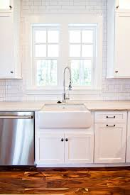 Subway Tile Ideas Kitchen White Subway Tile Backsplash White Subway Tiles From Counter To