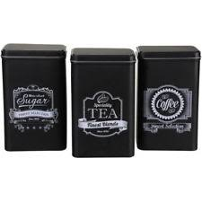 black kitchen canisters vintage retro metal kitchen canisters jars ebay